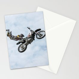 Motocross High Flying Jump Stationery Cards