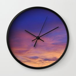 COME AWAY WITH ME - Autumn Sunset #1 #art #society6 Wall Clock