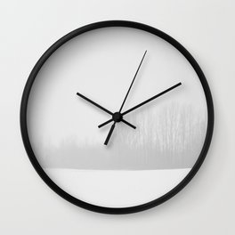 Midwest Snow Wall Clock