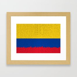 Extruded flag of Columbia Framed Art Print