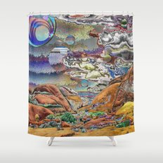 Joshua Tree Visions Shower Curtain
