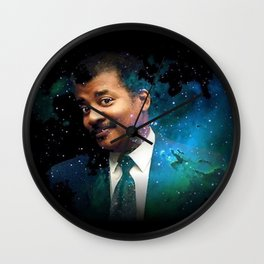 Neil Degrasse Tyson Wall Clock