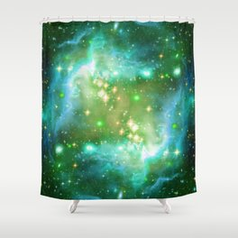 Tiny Lens Textured Nebula Shower Curtain