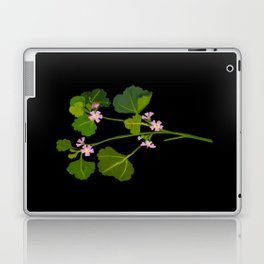 Mary Delany Botanical Vintage Floral Collage Malva Parviflora Laptop & iPad Skin
