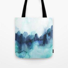 Wonderful blues Abstract watercolor Tote Bag