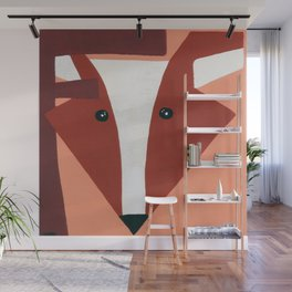 F is for Fox Wall Mural