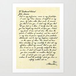 Alexander Hamilton Letter to John Laurens Art Print