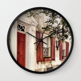 Charleston French Quarter Wall Clock