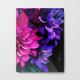 Still Life with Pink and Purple Flowers Metal Print