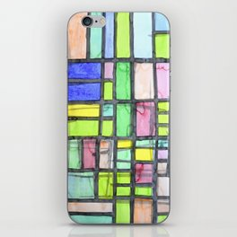 Homage to Mondrian iPhone Skin