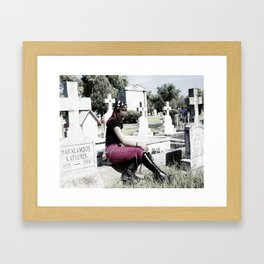 cemeteries make me wet two Framed Art Print