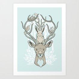 Friends & Birds Art Print