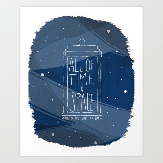 All Of Time And Space Art Print