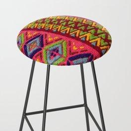 Colorful Guatemalan Alfombra Bar Stool