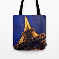 eiffel Tote Bags featuring EIFFEL by ZakPhotography