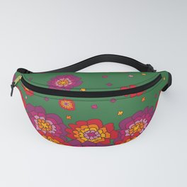 Retro Blooming Fanny Pack