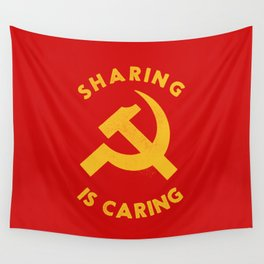 Sharing Is Caring Wall Tapestry