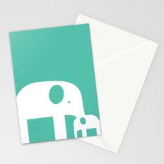Blue Elephants Stationery Cards