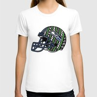 seahawks T-shirts featuring Polynesian Style Seahawks by Lonica Photography & Poly Designs