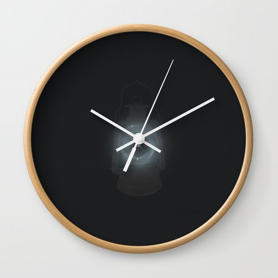 Cage of Fireflies Wall Clock