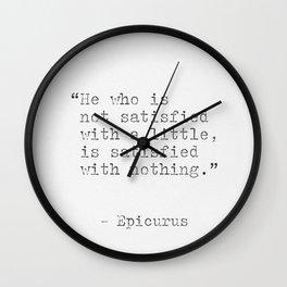 Epicurus Wall Clock