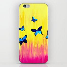 Butterflies and Vivid Sundrenched Colors iPhone Skin
