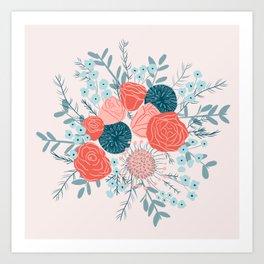 Muted florals Art Print