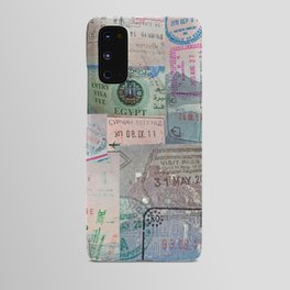 A Celebration of Passport Stamps Android Case