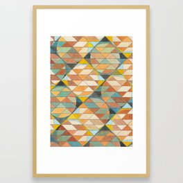 Triangles and Circles Pattern no.23 Framed Art Print