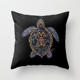 Ornamental Turtle Throw Pillow