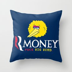 Romney VS Big Bird Throw Pillow
