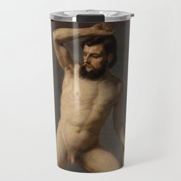 Gustav Klimt - Male Nude Travel Mug