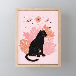 black panther spirit animal Framed Mini Art Print