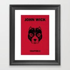John Wick Chapter 2 Alternative Poster Framed Art Print