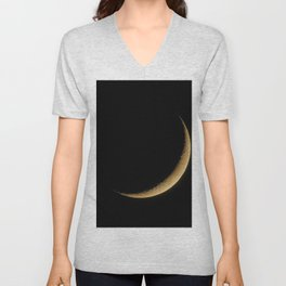 The Moon Sliver (Color) Unisex V-Neck