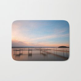 Saratoga Lake Sunset Bath Mat