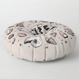 Geo-rex Vortex   Rose Quartz Floor Pillow