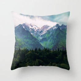 Escaping from woodland heights III Throw Pillow