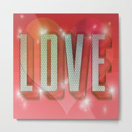 LOVE Pop Art Metal Print
