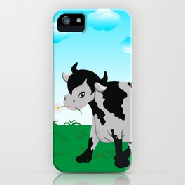 Cow on a meadow iPhone Case