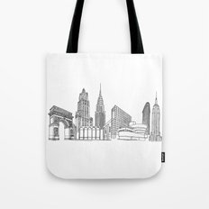 New York City by the Downtown Doodler Tote Bag