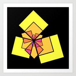 moving squares -10c- Art Print