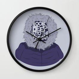 Look Deep Into The Parka Wall Clock