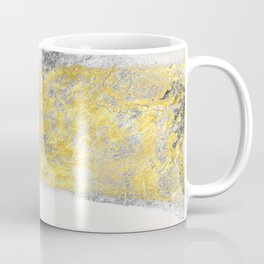 Silver and Gold Marble Design Coffee Mug