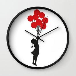 Banksy Girl With Balloons At Israeli-Palestine Wall, Palestinial Artwork, Prints, Posters, Bags, Men Wall Clock