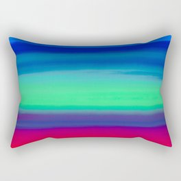 Rocket Blue Rectangular Pillow