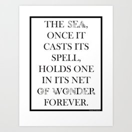Sea of Wonder - Jacques Cousteau Art Print