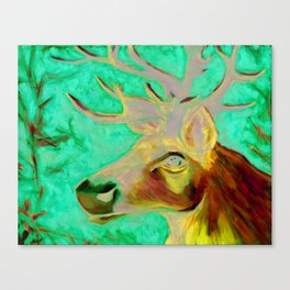Caribou Print from Original Canvas Painting Canvas Print