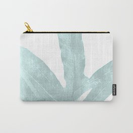 Ice Blue Fern in Summer White Carry-All Pouch