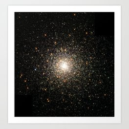 Hubble Images a Swarm of Ancient Stars Art Print
